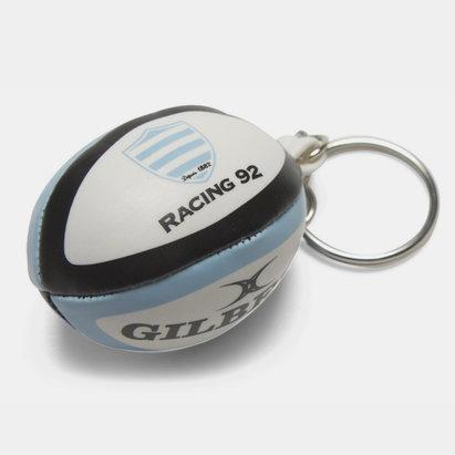 Racing 92 - Porte Clefs Mini Ballon de Rugby