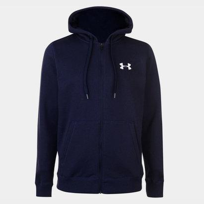 Under Armour Rival Fitted, Sweatshirt à capuche avec zip pour homme