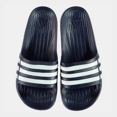 adidas Tongs Duramo Slide Marine/Blanches