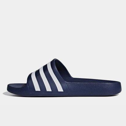 adidas Tongs Duramo Slide Marine/Blanches