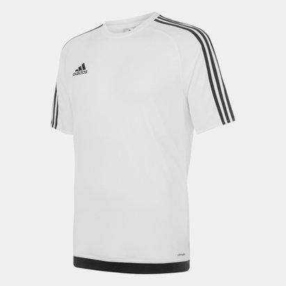 adidas Sereno, 3 Bande, T-shirt pour hommes en Blanc et Noir