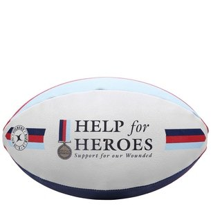 Ballon de Rugby des Supporters Help For Heroes Gilbert Taille 5