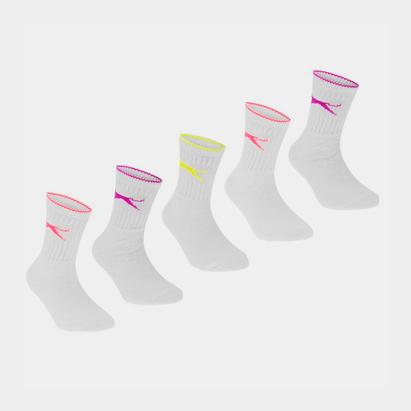 Slazenger Crew Socks 5 Pack Childs