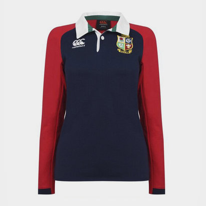 Canterbury British and Irish Lions Long Sleeve Rugby Shirt Ladies