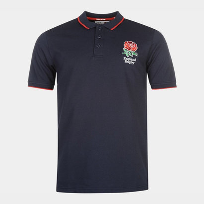 RFU Polo manches courtes avec logo de l'équipe d'Angleterre de Rugby pour hommes