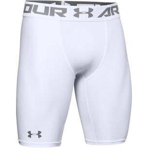 Under Armour Heatgear core, Short de compression chauffant blanc pour hommes