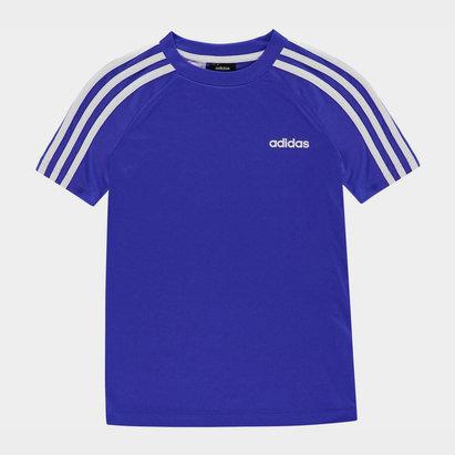 adidas Sereno 3 Bandes, T-shirt bleu et blanc pour enfants