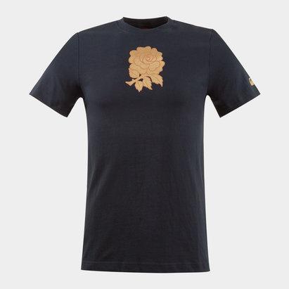 Canterbury Angleterre 2012/13 Enfants - Tshirt de Rugby Coton Graphique Noir