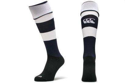Canterbury Chaussettes de Rugby CCC Rayées - Marine/Blanc