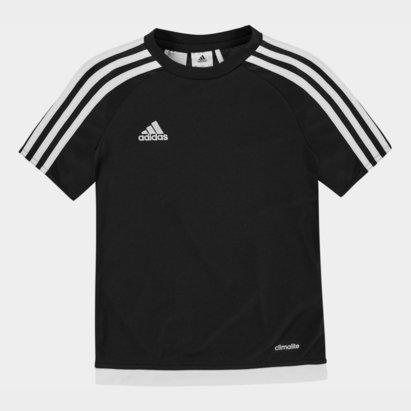 adidas Sereno 3 Bandes, T-shirt noir et blanc pour enfants