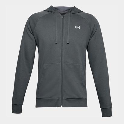 Under Armour Rival Fitted, Sweatshirt à capuche avec zip pour hommes