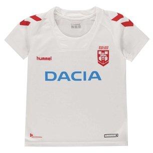Hummel Replique du maillot de l'équipe d'Angleterre 2018/2019 pour enfants, manches courtes