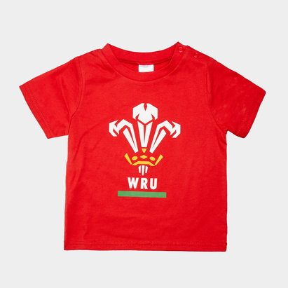 Wales WRU T-shirt pour bébé, Pays de Galles, Coupe du monde WRC 2019