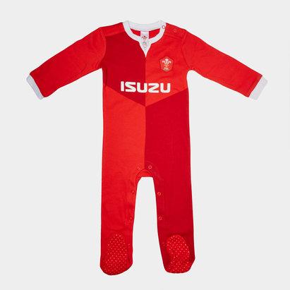 Wales WRU Pyjama à pied pour bébé, Pays de Galles, Coupe du monde 2019
