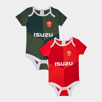 Wales WRU Lot de 2 vêtements pour bébé, Pays de Galles, Coupe du monde 2019