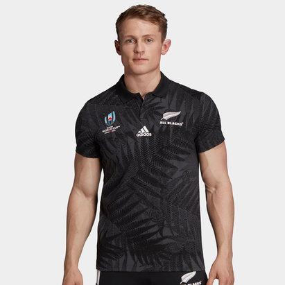 adidas Polo de de Rugby Supporter, All Blacks de Nouvelle Zélande, coupe du monde 2019