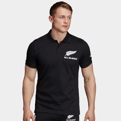 adidas Polo supporter en cotton, All Blacks de Nouvelle Zélande, coupe du monde 2019