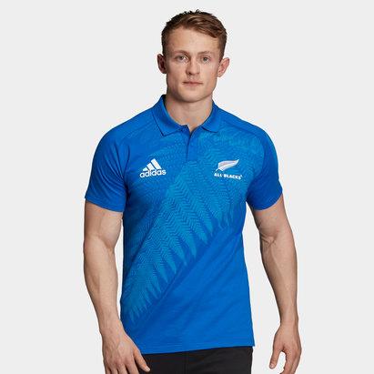 adidas Polo de rugby en cotton , All black de le Zélande, Coupe du monde de rugby 2019