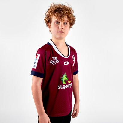Dynasty Sport Maillot de Rugby réplique domicile pour enfants, Queensland Reds 2019