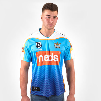 Dynasty Sport Maillot de Rugby manches courtes, Gold Coast Titans 2019 NRL Heritage