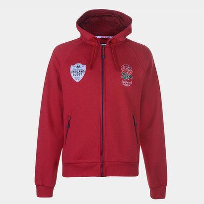 RFU England Full Zip Hoodie Mens