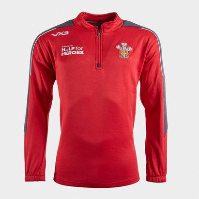 VX3 Help for Heroes Wales 2019/20 Half Zip Rugby Sweat