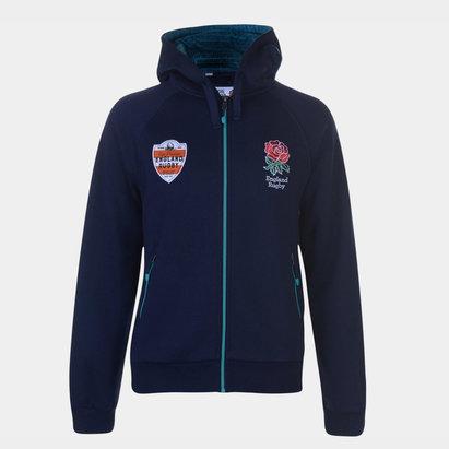 Sweatshirt à capuche England RFU avec zip intégral