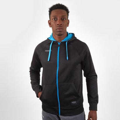 KooGa Sweatshirt de rugby avec zip intégral et capuche