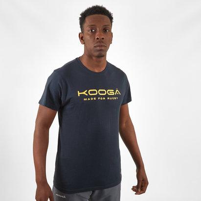 Kooga T-shirt en cotton avec logo Bleu/Jaune