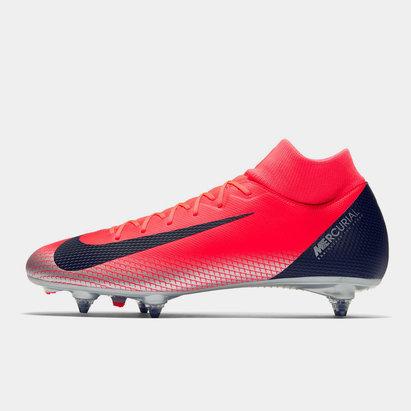 Nike Mercurial Superfly Academy CR7, Crampons de Football pour défenseur, Terrain mou