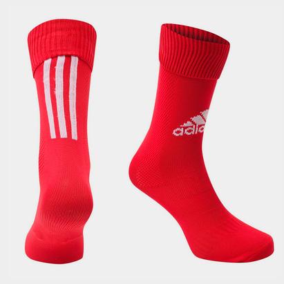 adidas Chaussettes de football adidas Santos pour hommes en rouge