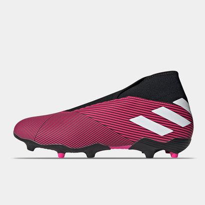 adidas Nemeziz 19.3 FG, Crampons de football sans lacets pour homme