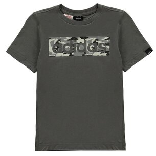 adidas Camo Linear T Shirt Junior