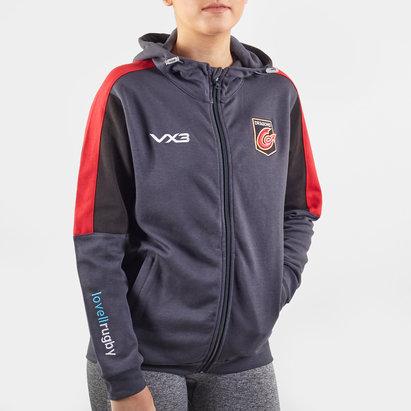 VX3 Sweat de Rugby à capuche avec zip intégral, Dragons 2019/2020 pour femmes