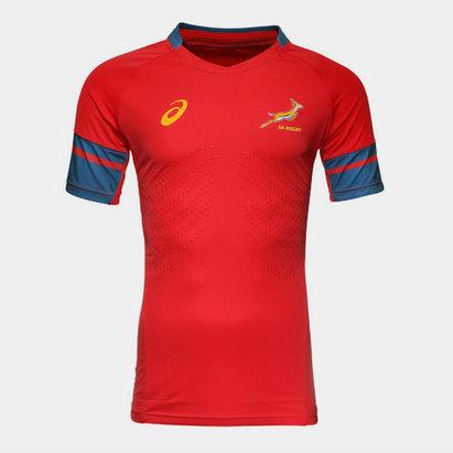 Asics Springboks Afrique du Sud 2015/16 - Tshirt d'Entraînement de Rugby