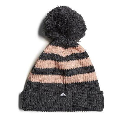 adidas Fleece Three Stripe Bobble Hat Ladies