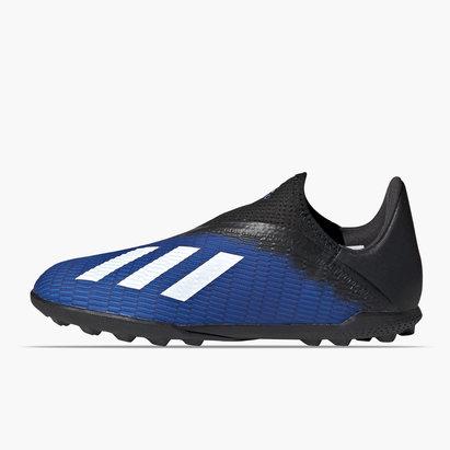 adidas X 19.3 Chaussures de Football pour enfants sans lacets, Terrain synthétique