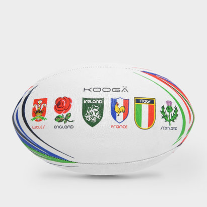 KooGa Ballon de Rugby au couleurs des 6 Nations