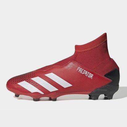 adidas Predator 20.3 FG, Crampons de Football Sans lacets pour enfants