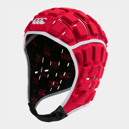 Canterbury Reinforcer Casque de Rugby Rouge