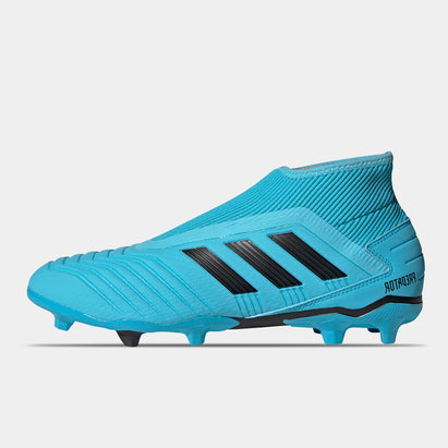 adidas Predator 19.3, Crampons de Football Junior FG sans lacets