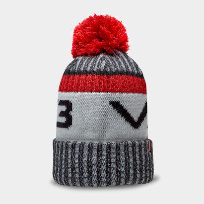 Bonnet à pompon VX3 en noir/rouge