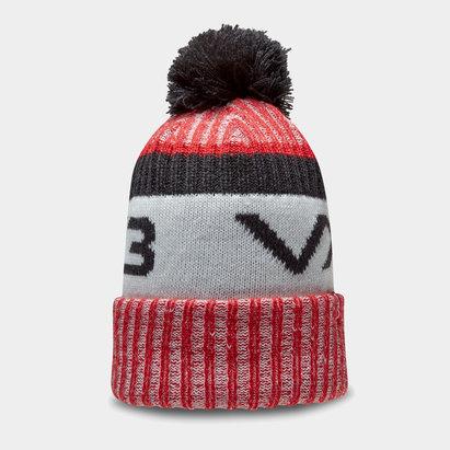 Bonnet à pompon VX3 en rouge et noir