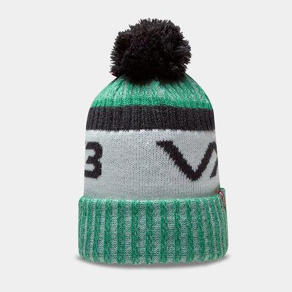 Bonnet à pompon VX3 en vert et noir