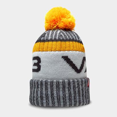 Bonnet à pompon VX3 en noir et ambre