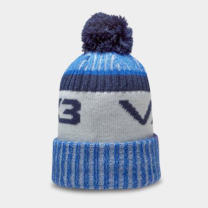 Bonnet à pompon VX3 en bleu et marin