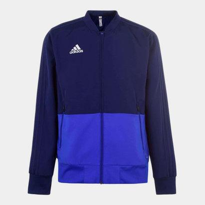 adidas Veste Pre match bleu pour homme