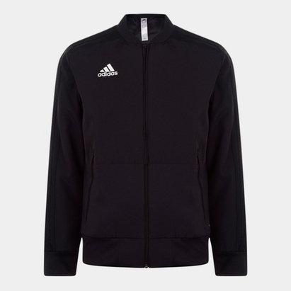 adidas Veste noire pour hommes Pre Match