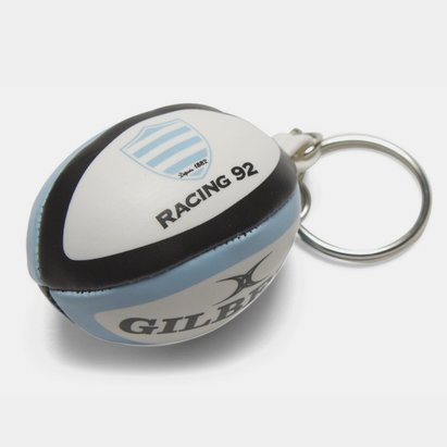 Gilbert Racing 92 - Porte Clefs Mini Ballon de Rugby