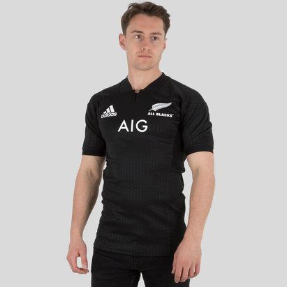 adidas Nlle Zélande All Blacks 2017/18 - Maillot de Rugby Test à Domicile